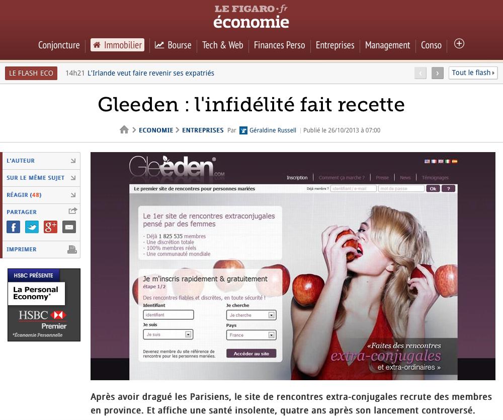 GLEEDEN - L'INFIDELITE FAIT RECETTE