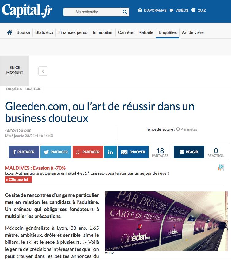 Gleeden.com, ou l'art de réussir dans un business douteux