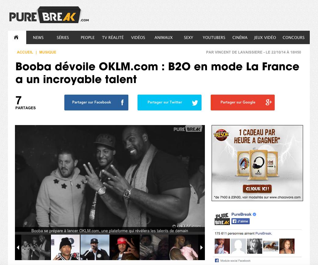 Booba en mode La France a un incroyable talent